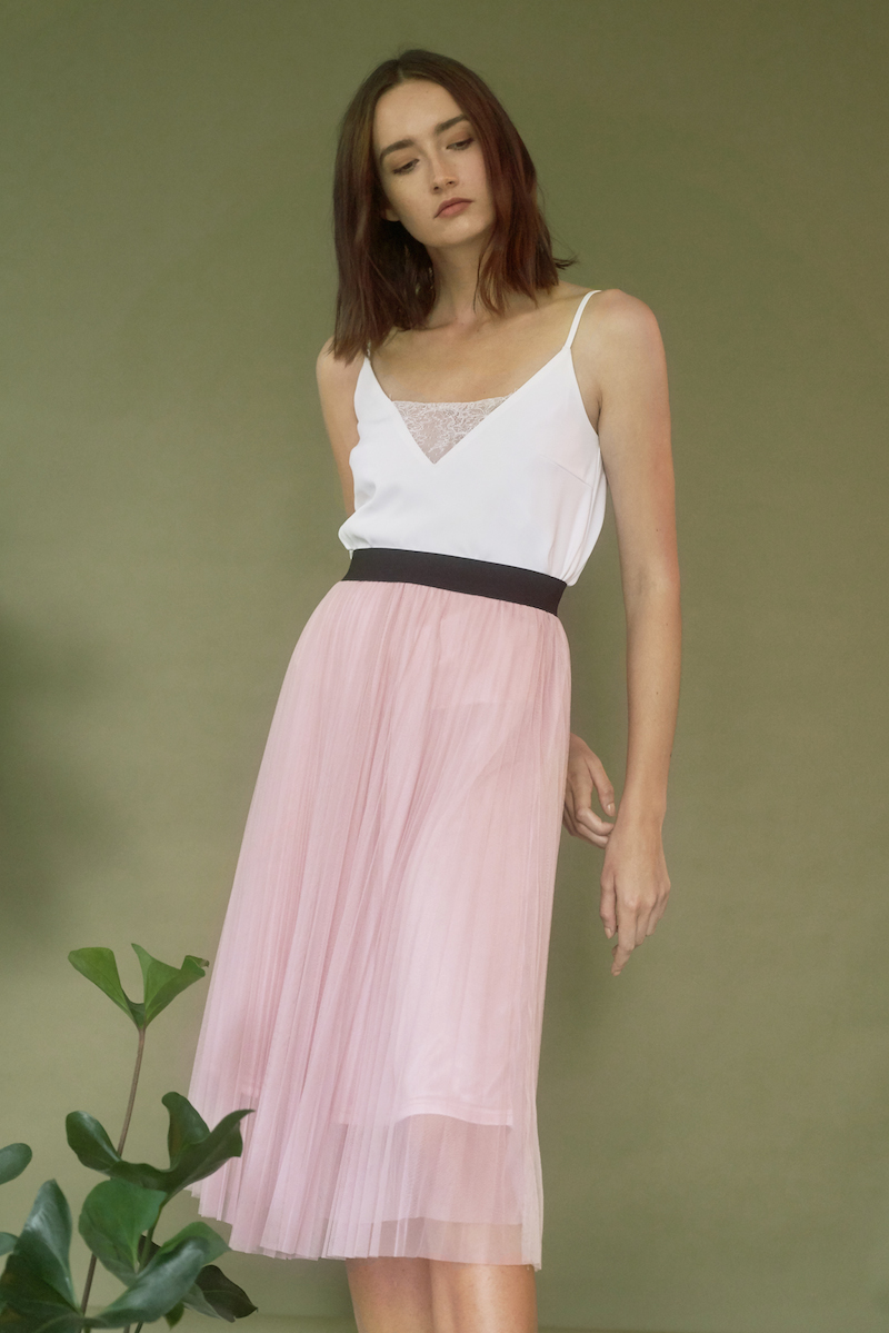 many fashionable factory outlet premium selection Lisha Tulle Midi Skirt in Dusty Rose